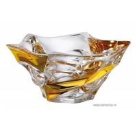 Fructiera 29.5 cm Bohemia cristalit - Flamenco Gold - Nr catalog 2294