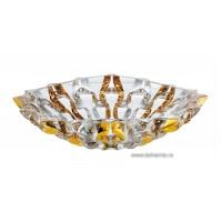 Fructiera 35 cm Bohemia cristalit - Samba Gold - Nr catalog 2301 (Fructiere - Boluri - Platouri)