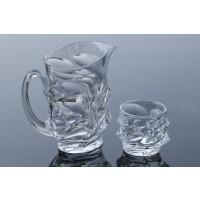 Set carafa si pahare pentru limonada din cristal Colectiia Calypso