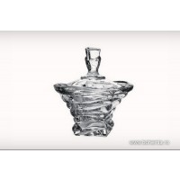 Caseta 13 cm Bohemia cristalit - Bamboo - Nr catalog 2270 (Bomboniere si casete cu capac)