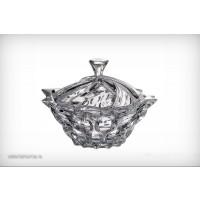 Caseta mare 21 cm Bohemia cristalit - Samba - Nr catalog 2233 (Bomboniere si casete cu capac)