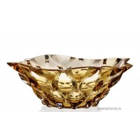 Fructiera 21 cm Bohemia cristalit - Samba Aamber - Nr catalog 2558 (Fructiere - Boluri - Platouri)