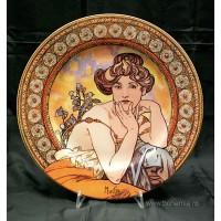 Platou miniatura ALPHONSE MUCHA - TOPAZ - Nr catalog 1724 (Produse decorative)