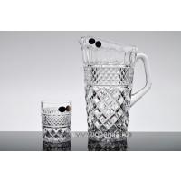 Set pahare de limonada si carafa din cristal de Bohemia - Madison - Nr catalog 2097 (Pahare cu sticla)