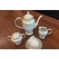Serviciu de cafea 250 ml din portelan 17 piese - 6 persoane - MARIE - Nr catalog 933 (Set Servicii Portelan de cafea)