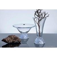 Fructiera Bohemia cristalit 35.5 cm - Rose - Nr catalog 2573 (Fructiere - Boluri - Platouri)