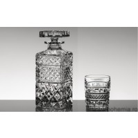 Set pahare de whisky si sticla din cristal Bohemia - Manhattan - Nr catalog 1836