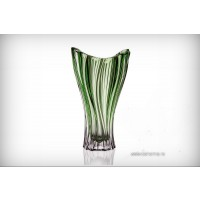 Vaza Bohemia cristalit 32 cm - Venus Verde - Nr catalog 2002