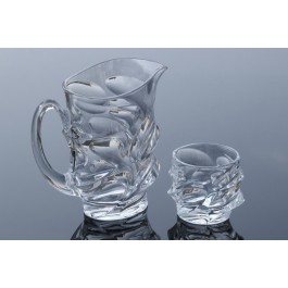 Crystal lemonade glasses and jug set - Calypso Collection