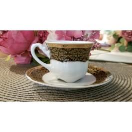 Serviciu de cafea din portelan 12 piese - 110 ML - 6 persoane - BOLERO NOIR - Nr catalog 1196 (Set Servicii Portelan de cafea)