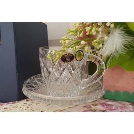 Set 2 cescute cafea din cristal de Bohemia - Madison - Nr catalog 2907 (Ceasca