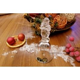Clopotel 12 cm din cristal de Bohemia - Mos Craciun - Nr catalog 2756 (Produse decorative)
