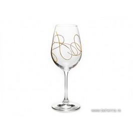 Set 2 pahare vin Bohemia Cristalit - String Gold - Nr catalog 3073 (Pahare)