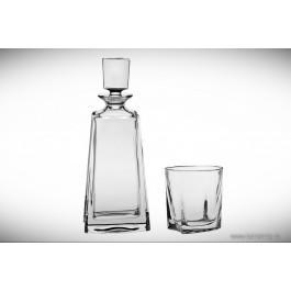 Set sticla si pahare de whisky din cristal Bohemia - Kathreen 2 - Nr catalog 3156 (Pahare cu sticla)