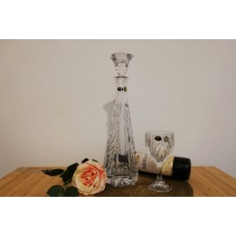 Set de vin cu decantor din cristal de Bohemia - Elise Vibes - Nr catalog 3066 (Pahare cu sticla)