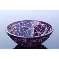 Colored crystal bowl