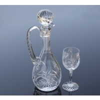 Crystal wine glasses and bottle set - Imperial Collection