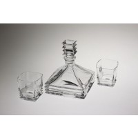 Crystal whisky glasses and bottle set - Maria Collection