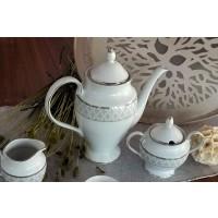 Cafetiera din portelan fin 1.2 l - Marie - Nr catalog 1849 (Set Servicii Portelan de cafea