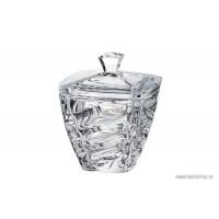 Caseta Bohemia cristalit 14 cm - Facet - Nr catalog 2220 (Bomboniere si casete cu capac)