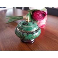 Caseta Cloisonne mica 8 cm - Verde - Nr catalog 2953 (Bomboniere si casete cu capac)