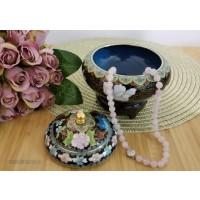 Caseta Cloisonne cu sirag de cuart - Nr catalog 3252 (Produse decorative)