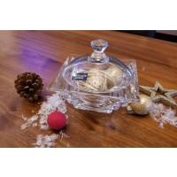 Caseta 11.5 cm Bohemia cristalit - Casablanca - Nr catalog 2740 (Bomboniere si casete cu capac)