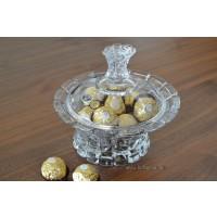 Caseta 12.5 cm cristal Bohemia - Princess - Nr catalog 2158 (Bomboniere si casete cu capac)