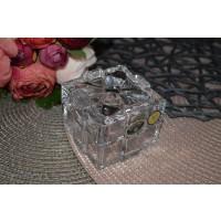 Caseta din cristal de Bohemia - Cadou - Nr catalog 2820 (Bomboniere si casete cu capac