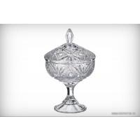 Caseta cristalit Bohemia 24 cm - Miranda - Nr catalog 2216 (Bomboniere si casete cu capac)