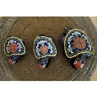 Set 3 casete testoasa din cloisonne - Albastre - Nr catalog 3069 (Diverse)