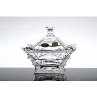 Caseta 17.5 cm din cristal de Bohemia - X-Lady - Nr catalog 2418 (Bomboniere si casete cu capac)