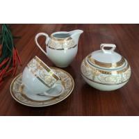 Porcelain coffee set - 6 persons - SHARIM GOLD - Nr catalog 1684