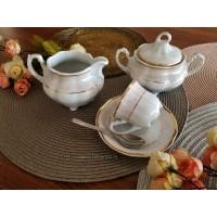 Serviciu cafea 110 ml cu zaharnita si latiera - Bolero Jasmine - Nr catalog 2873 (Set Servicii Portelan de cafea)