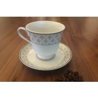 Serviciu de cafea 250 ml din portelan 12 pieces - 6 persoane - MARIE - Nr catalog 824 (Set Servicii Portelan de cafea)