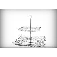 Etajera din cristal de Bohemia - Glacier - Nr catalog 2020 (Fructiere - Boluri - Platouri)