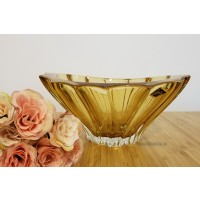 Fructiera 22 cm Bohemia cristalit - Venus Amber - Nr catalog 3002 (Fructiere - Boluri - Platouri)