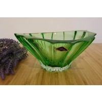 Fructiera 22 cm Bohemia Cristalit - Venus Verde - Nr catalog 3009 (Fructiere - Boluri - Platouri)
