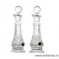 Set doua sticlute pentru ulei si otet din cristal de Bohemia - Madison - Nr catalog 656 (Sticle si carafe)