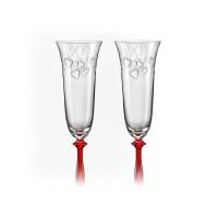 Set 2 pahare sampanie Bohemia cristalit - Love Angela - Nr catalog 3172 (Pahare)