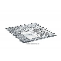 Platou 21 cm din cristal de Bohemia - Glacier - Nr catalog 2616 (Fructiere - Boluri - Platouri)