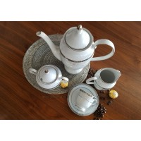 Serviciu de cafea espresso 6 persoane - Gloria - Nr catalog 2838 (Set Servicii Portelan de cafea)