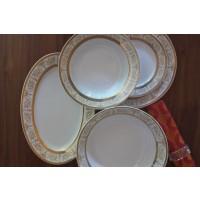 Serviciu de masa din portelan 20 piese - 6 persoane - Sharim Gold - Nr catalog 1498 (Set Servicii Portelan de masa)