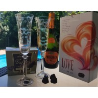Set 2 pahare sampanie Bohemia cristalit - Love Mat - Nr catalog 3091 (Pahare)