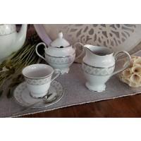Serviciu de cafea espresso cu latiera si zaharnita - Marie - Nr catalog 2209 (Set Servicii Portelan de cafea)