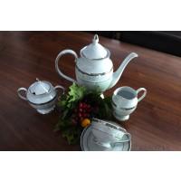 Serviciu de cafea din portelan complet 12 persoane - GLORIA - Nr catalog 2025 (Set Servicii Portelan de cafea)
