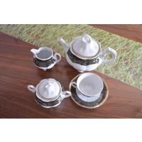 Serviciu de ceai 6 persoane - Bolero Noir - Nr catalog 1522 (Set Servicii Portelan de cafea)