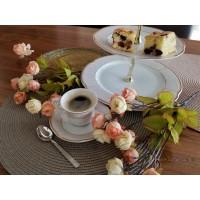 Serviciu cafea espresso 110 ml si etajera - Bolero Jasmine - Nr catalog 2872 (Set Servicii Portelan de cafea)