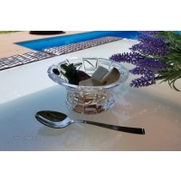 Set 6 boluri pentru inghetata din cristal - Princess - Nr catalog 1092 (Fructiere - Boluri - Platouri)