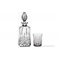 Set pahare de whisky si sticla din cristal de Bohemia - Precious
